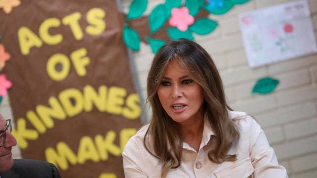 Melania Trump makes surprise visit to a Texas border facility