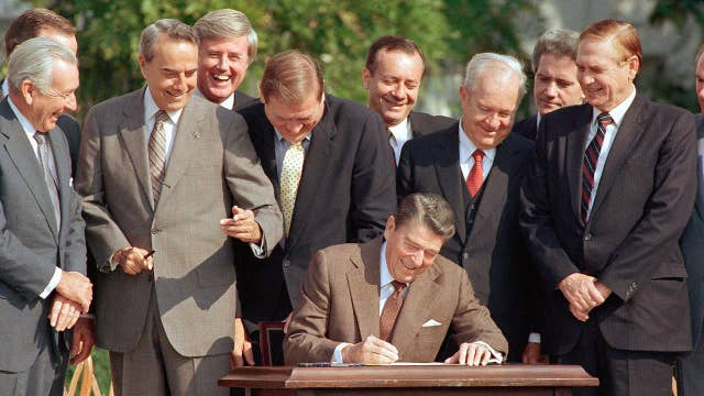 Trump vs Reagan on trade