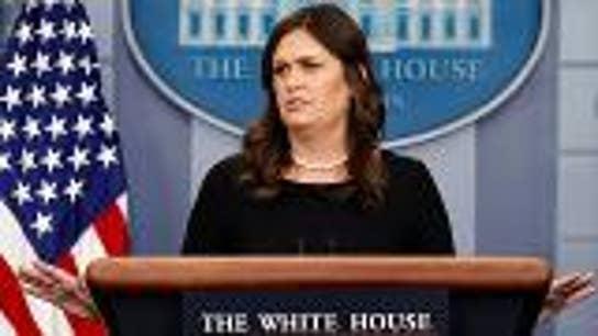 Sarah Huckabee Sanders spars with reporter over Trump's immigration policies
