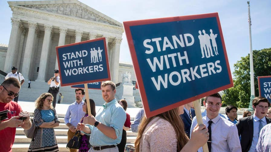 Harvard Law Professor Emeritus Alan Dershowitz on the Supreme Court ruling for workers who didn't want to pay union dues.