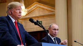 President Trump said Tuesday that he misspoke when he seemed to dismiss allegations of Russian meddling in the 2016 elections, stating clearly that he accepts the U.S. intelligence community's conclusions as he sought to quell a bipartisan firestorm over his press conference with Vladimir Putin.