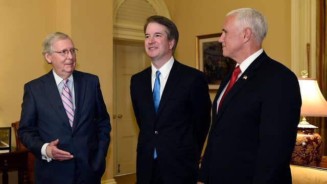 Judge Kavanaugh starts making the rounds on Capitol Hill