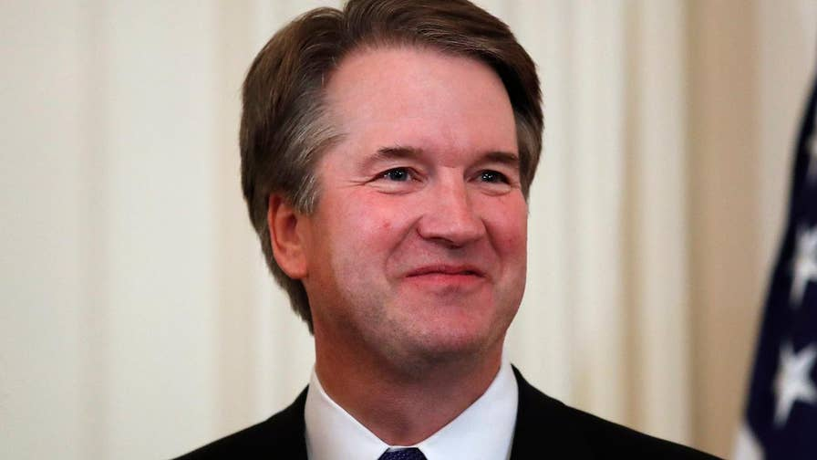 Judge Brett Kavanaugh says he is deeply honored to fill Justice Kennedy's seat on the Supreme Court.