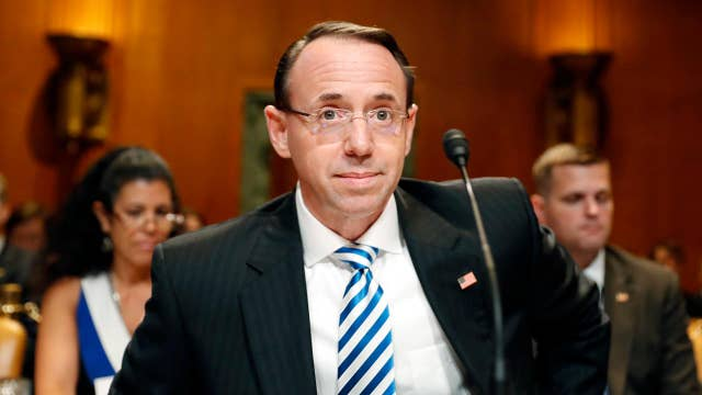 Rod Rosenstein announces indictments of 12 Russian agents