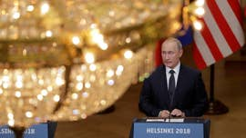 President Trump and Vladimir Putin tackled allegations of election meddling in unprecedented terms following their one-on-one summit Monday, with Trump suggesting both sides share blame and the Russian president denying involvement -- while offering to cooperate in the special counsel probe, with a catch.