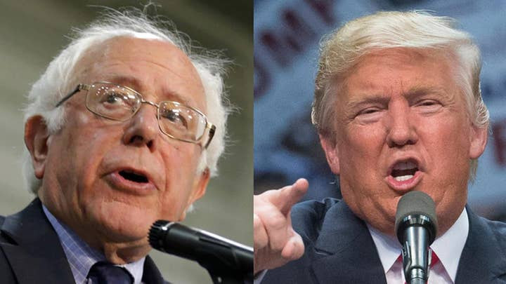 Trump vs. Bernie Sanders on the campaign trail