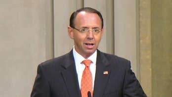 """""""The Russia Hoax"""" author Gregg Jarrett and Judicial Watch Director of Investigations Chris Farrell weigh in on The New York Times report that Deputy Attorney General Rod Rosenstein discussed wearing a wire to secretly record President Trump."""