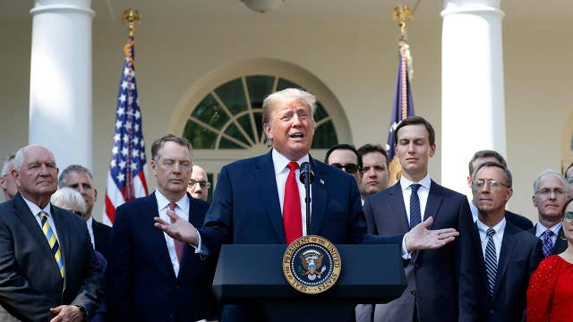 Trump: We use tariffs to negotiate trade deals