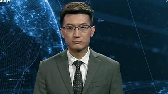 China's AI news anchor