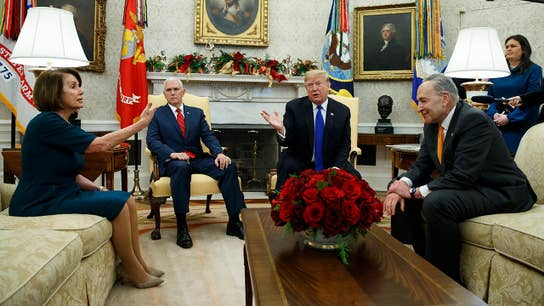 Trump spars with Schumer, Pelosi over border wall funding