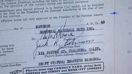 Jackie Robinson's first MLB contract with the Brooklyn Dodgers up for auction with starting bid of $5M