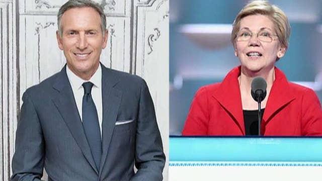 Howard Schultz criticizes Elizabeth Warren's plan to break up big tech