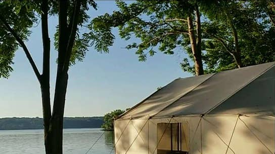 The growing trend of 'glamping'