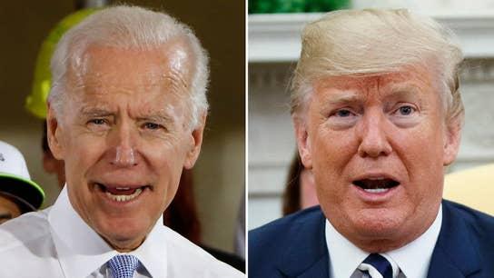 Trump, Biden trade barbs over blue collar workers