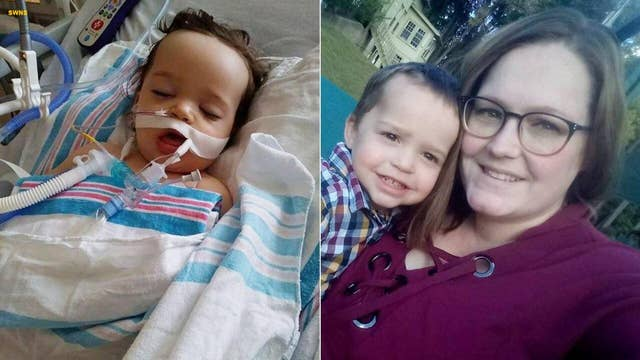Toddler nearly dies after accidentally eating laundry pod