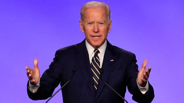 Joe Biden jokes about touching allegations during union speech