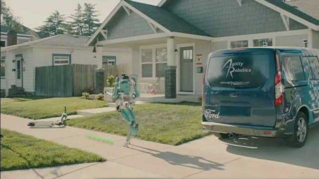The latest in Ford's research into delivery robots