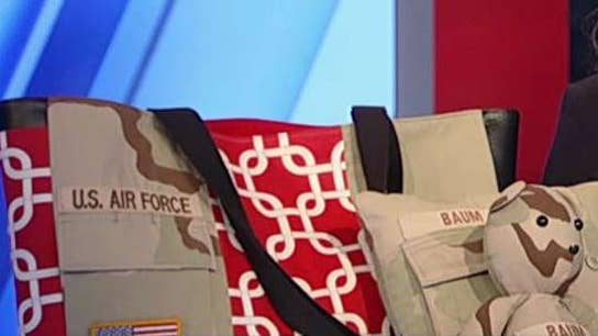 Female entrepreneur inspired to create military-inspired clothing, accessories