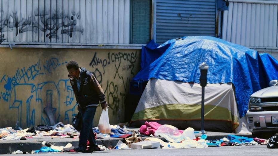 LA mayor under fire over city's homeless problem