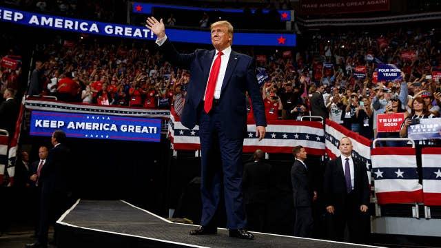 Trump slams Democrats during a rally in Florida