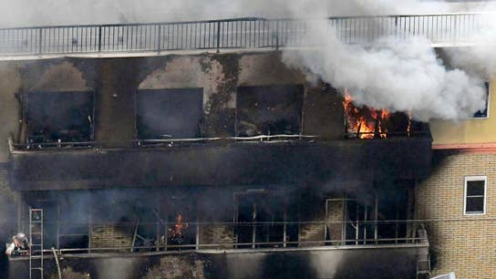 Deadly fire at Japan studio