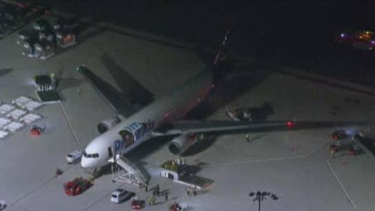 Amazon Prime plane starts to smoke after landing