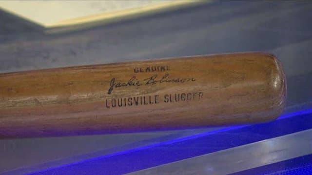 Jackie Robinson's game-used 1955 World Series bat up for auction