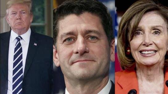 Trump takes on Paul Ryan, defends Nancy Pelosi