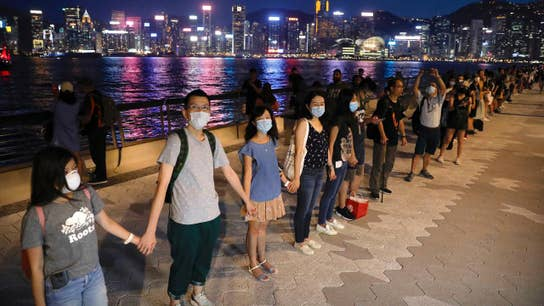 Crowds gather in heart of Hong Kong