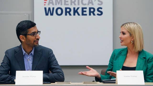 Google CEO talks jobs with Ivanka Trump