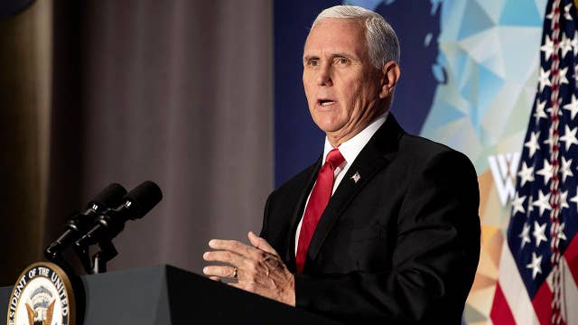 Pence strikes firm tone in China speech