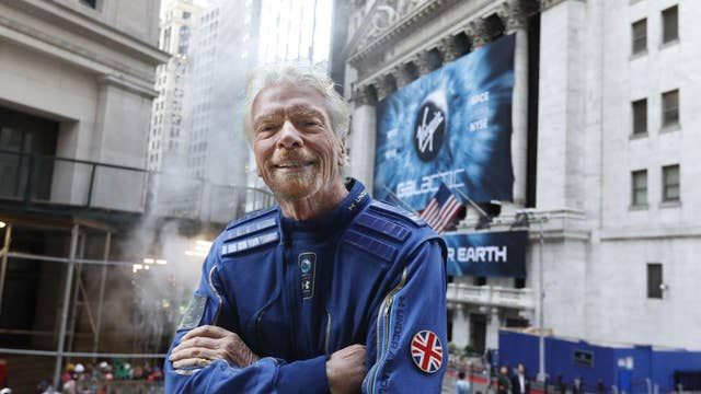 Sir Richard Branson: Space flight now costs the same as trans-Atlantic travel a century ago