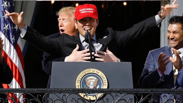 World Series champion Washington Nationals visit Trump