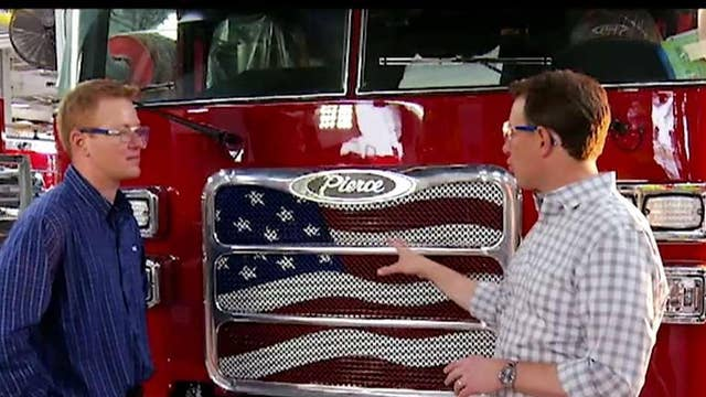 Pierce Manufacturing makes custom-made fire trucks in the US