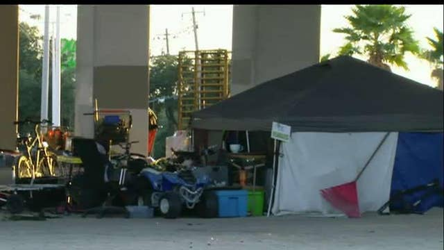 Austin homeless camps being cleared out