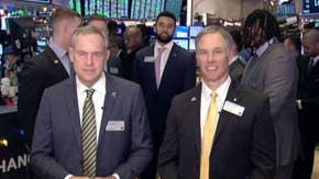 Pinstripe Bowl coaches, players ring NYSE opening bell