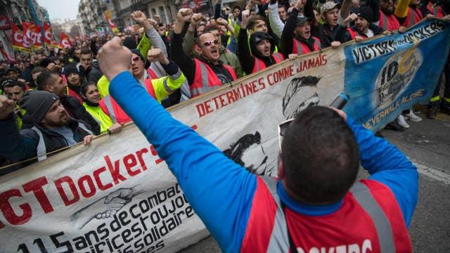 France's pension program boils over in protests: Report