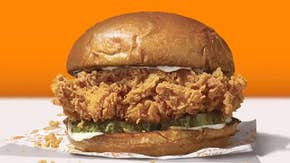 Popeyes parodies banana counterpart with chicken sandwich 'art piece'