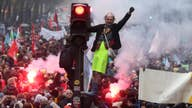 French pension protests leaving Paris burning