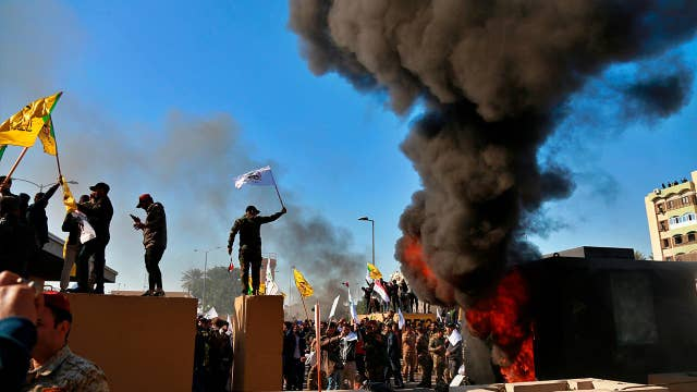 Iraqi protesters storm US embassy in Baghdad