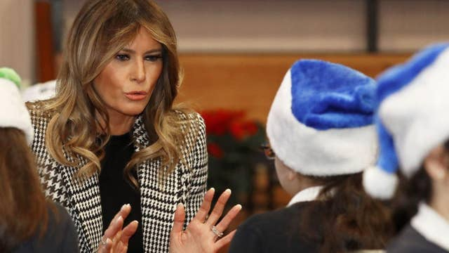Melania Trump: I see the spirit of America in Toys for Tots program