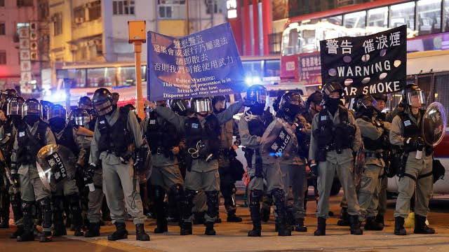 Christmas in Hong Kong marked by protests, tear gas