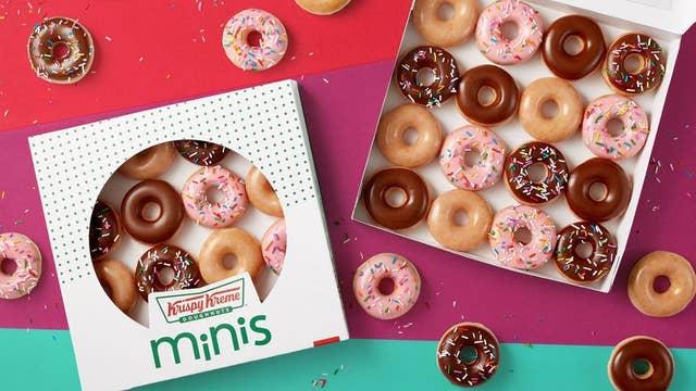 Krispy Kreme launches 90-calorie mini-doughnuts