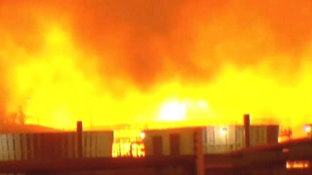 Fire erupts at an ExxonMobil refinery in Louisiana