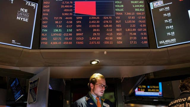 Dow plunges nearly 3,000 points amid growing coronavirus fears