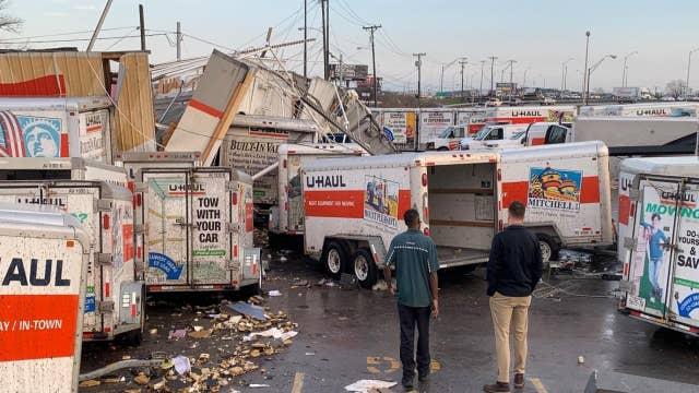 Tornado rips through Nashville, Tennessee