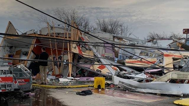 Tornado eyewitness account: 'I just took cover'