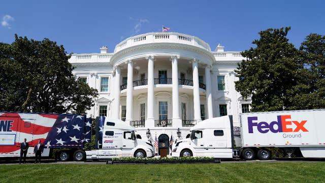 Trump celebrates American truckers during coronavirus crisis