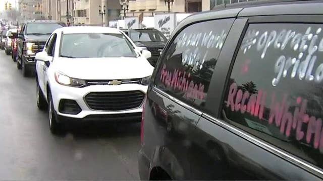 Michiganders protest coronavirus lockdown rules from their cars