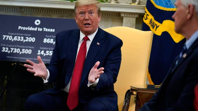 Trump: Unemployment numbers will start to come down soon
